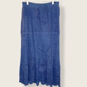 Vintage North Style crochet maxi skirt